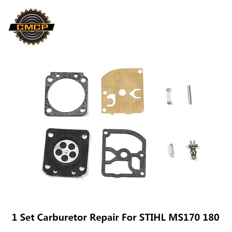 1set Carburetor Rebuild Kit Chainsaw Spare Parts Gasket Diaphragm For STIHL MS170 180 Carburetor Repair Kit Brush Cutter