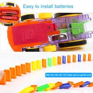 Image 5 - ドミノ自動敷設おもちゃ電車ゲームセットドミノ積層した車子供 diy の教育玩具 christams gilft 子供のための