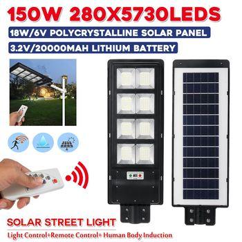 150w 280LED Luce di Via Solare IP67 Waterproor 3 Modalità PIR di Movimento del Sensore LED per Esterni Da Giardino w/Remote regolatore di Controllo Della Luce