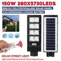150w 280LEDs Solar Straße Licht IP67 Waterproor 3 Modi PIR Motion Sensor LED Outdoor Garten w/Remote controller Licht Steuerung