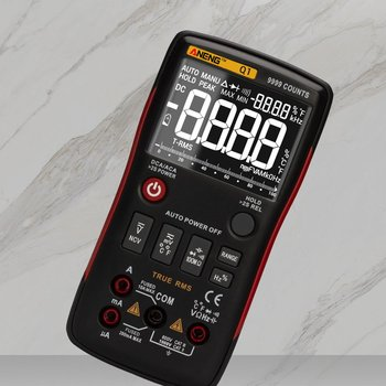 For Aneng Q1 Digital Multimeter 9999 Count Manual Range Ac Dc Voltage Amplifier Ohm Frequency Capacitance Temperature Tester fluke 101 auto range digital multimeter for ac dc voltage resistance capacitance and frequency measurement
