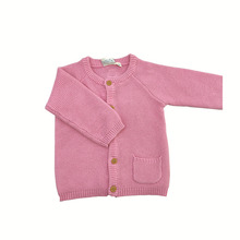 Детский свитер; сезон осень-зима; стильный свитер для девочек; Однотонный розовый вязаный свитер для маленьких девочек; пальто