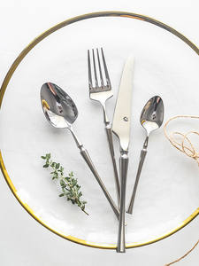 Luxury Dinnerware Fork Cutlery-Set 304-Stainless-Steel New Sliver Mirror 1 1pieces Polishing