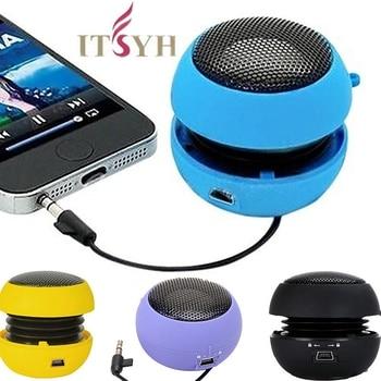 Cute Portable Mini  Speaker Hamburger Mini Speaker 3.5mm Wired Portable Speakers A1912-06 cute hamburger land line telephone