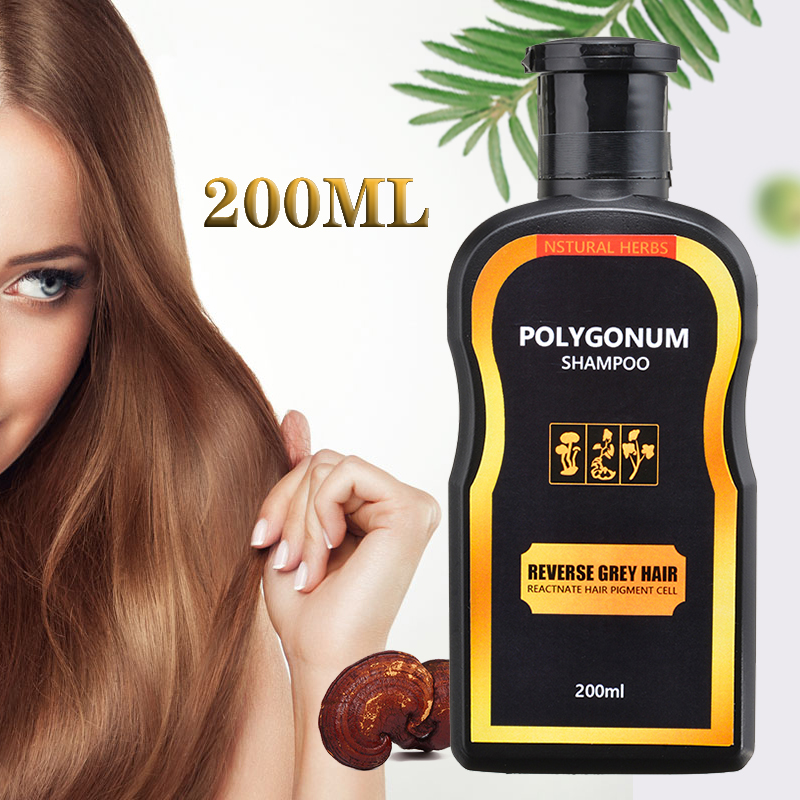 200ml Natural Darkening Nourishing Shampoo Reverse Gray Hair Black Hair Coloring Damaged Hair Moisturize Repairing