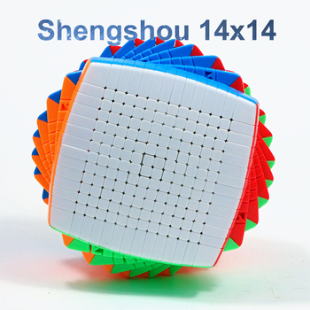 Shengshou 14x14x14 Cube stickerless 100mm Pillow Cubes Speed Magic Puzzle SengSo 14x14 Educational Cubo magico Toys shengshou brand 5x5x5 magic cube professional speed magic cube children educational toys magico cubo rubic cube