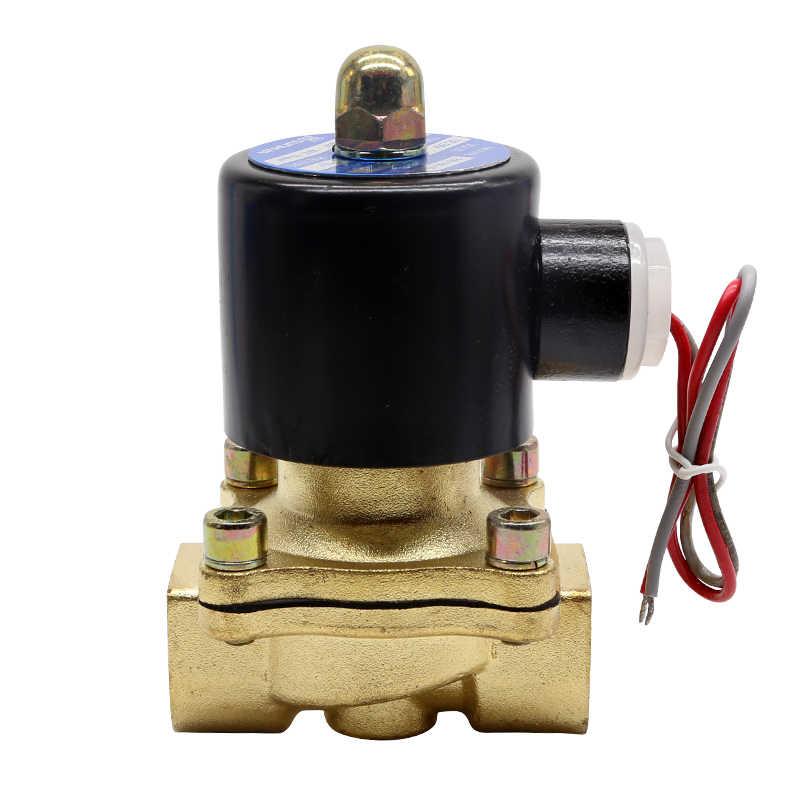 DN8 DN10 DN15 DN20 DN25 1/4 3/8 1/2 3/4 1 بوصة الكهربائية صمام مياه ملف لولبي 12V 24V 220V صمام عادة مغلقة للمياه النفط الهواء