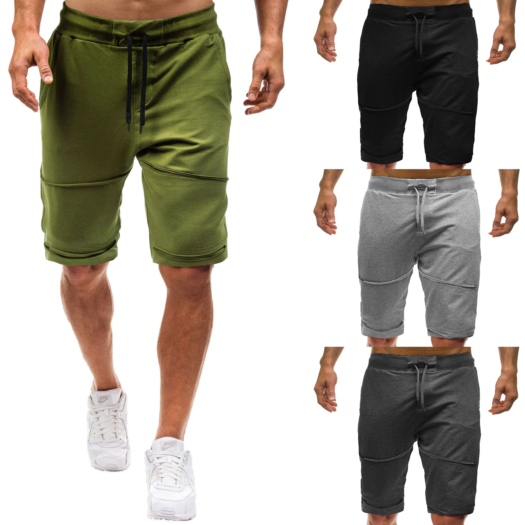 Shorts Men's 2019 New Style Pants Large Size Men With Holes Shorts Men's Sports Casual Shorts 3423