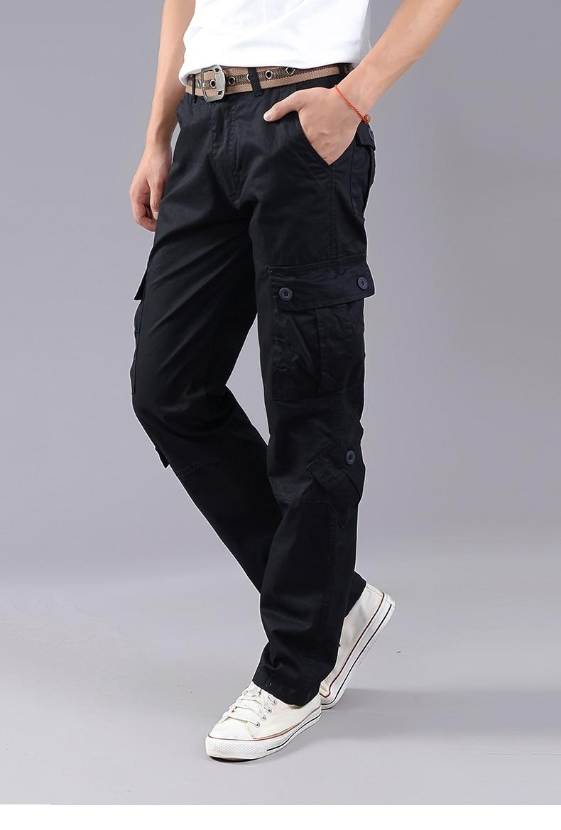 KSTUN Cargo Pants Men Combat Army Military Pants 100% Cotton 4 Colors Multi-Pockets Flexible Man Casual Trousers Overalls Plus Size 38 21