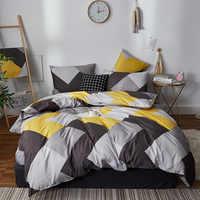 Alanna mode parure de lit pur coton A/B double face motif simplicité drap de lit, housse de couette taie d'oreiller 4-7 pièces