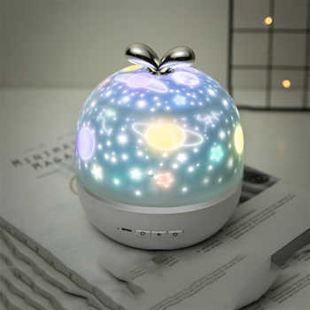 Coversage Rotating Night Light Projector Spin Starry Sky Star Master Ocean World Children Kids Baby Sleep Romantic Projection