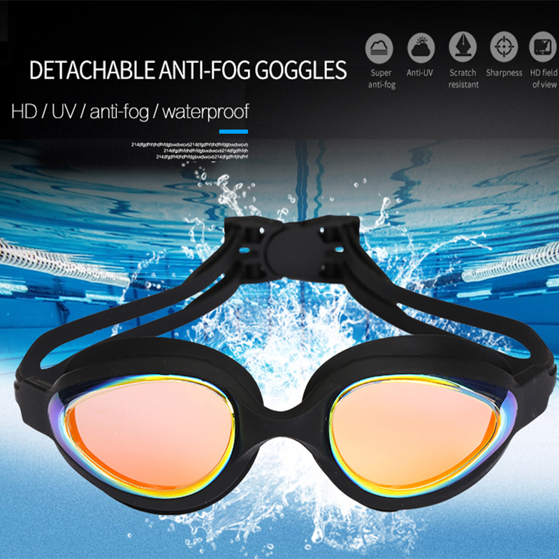 Men Women Adults Professional Swimming Goggles Anti-fog UV Protection Swimming Glasses Waterproof Silicone Swim Glasses Eye Wear