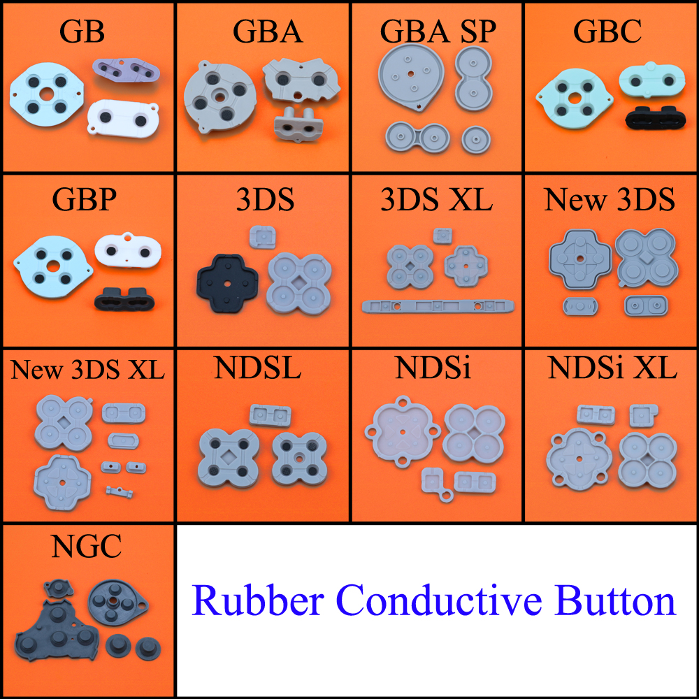 Rubber Conductive Button A-B D-pad Silicone Start Select Keypad for Game Boy Classic GB GBC GBP GBA SP For 3DS NDSL NDSI XL NGC(China)