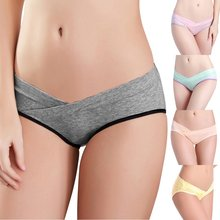 Cotton Maternity Underwear U-Shaped Low Waist Pregnancy Briefs For Pregnant women Plus size Panties Clothes YRD(China)