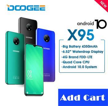 Купить DOOGEE X95 мобильный телефон с 5,5-дюймовым дисплеем, четырёхъядерным процессором MTK6737, ОЗУ 2 Гб, ПЗУ 16 ГБ, 13 МП, 6,52 мАч, Android 10