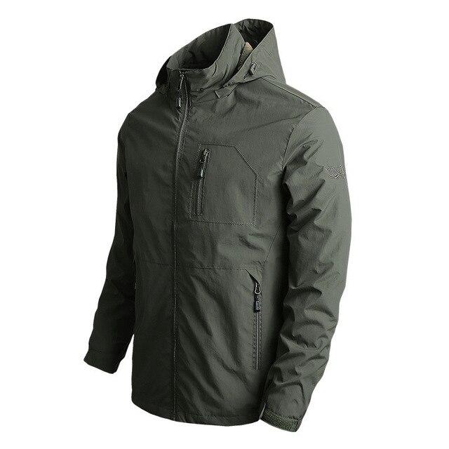 New Men's Softshell Jacket Autumn Spring Streetwear Tactical Bomber Windbreaker Jackets Men Hooded Hip-hop Pilot Windproof Coats 3
