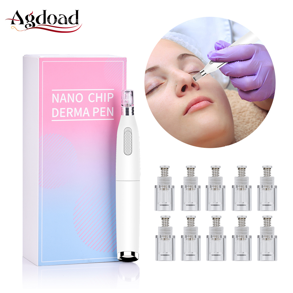 Nano Microneedles Derma Pen Machine Microneedling Therapy Derma Roller Acne Wrinkle Removal Beauty Skin Care Tips For Dr Pen