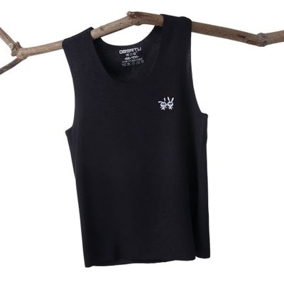 VIDMID Baby boys girls summer sleeveless t-shirt vests tops tees boys beach cotton girls kids Children's traceless vests 7128 01 5