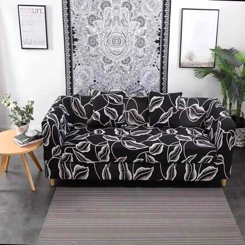 أسود تمتد أريكة يغطي حامي أثاث البوليستر وفيسيت غطاء أريكة L الذراع غطاء مقعد ل غرفة المعيشة 1/2/3/ 4-seater