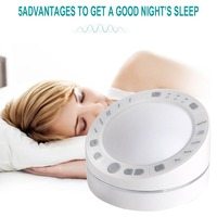 Timing USB Rechargeable White Noise Relaxation Helper Music Nightlight Travel Baby Office Sleep Sound Machine ABS Recording