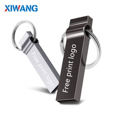 USB flash drive 128GB 32GB pendrive 16GB 8GB 64GB Pen Drive stick drive 4gb usb stick Metal Flash memory stick Free print logo недорого