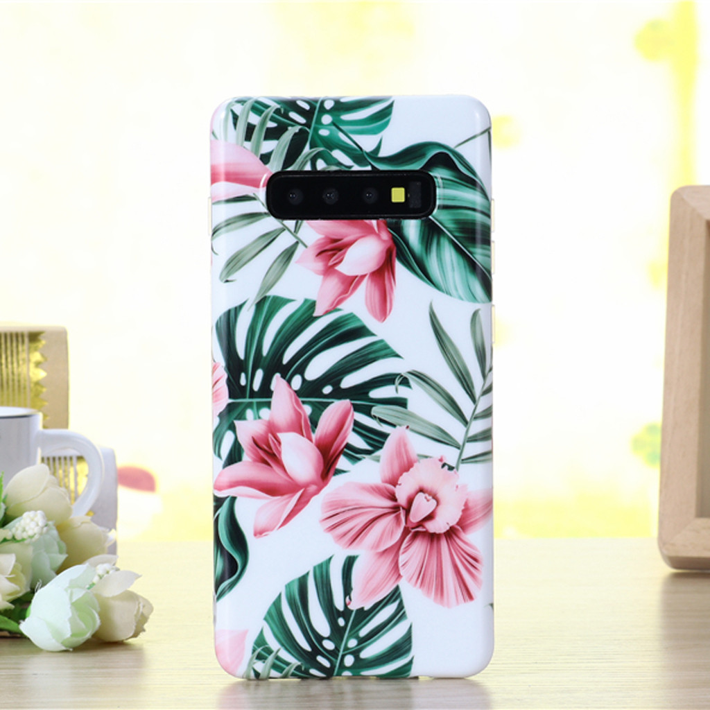 For Samsung Galaxy S10 6.1Inch Shock Proof Flower Cute Girls Printed Phone Case Cover Protective Phone Case Soft TPU Back Cover