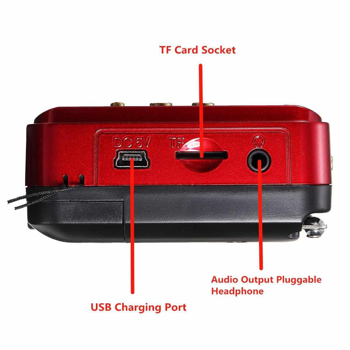 Mini Draagbare Radio Speler Handheld Digitale Fm Usb Tf MP3 Muziekspeler Speaker Oplaadbare