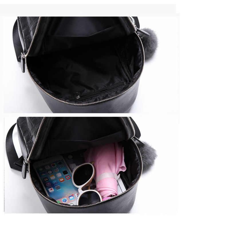 Mini Rucksäcke Frauen PU Leder Nette Kleine Rucksack Weibliche Weiß Zurück Pack Schwarz Rucksäcke Für Teen Mädchen Mode Bagpack Frau