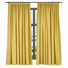 Tape Pleat Solid Cotton Linen Blackout Curtain Window Drapery, Livingroom Bedroom Curtain, ChadMade Isabella, 35 Colors(1 Panel)