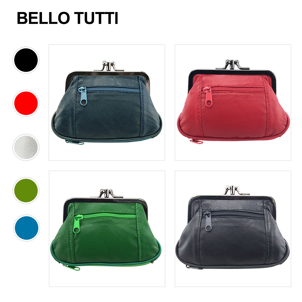 BELLO TUTTI Women Genuine Leather Coin Purse Original Design Female Change Purse Card Holder Wallet Small Purse Coin Wallet