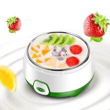 Máquina eléctrica automática de Yogurt de 220V y 800 ml, Yogurt de alta calidad, herramienta para hacer tazas DIY, contenedor de plástico de acero inoxidable