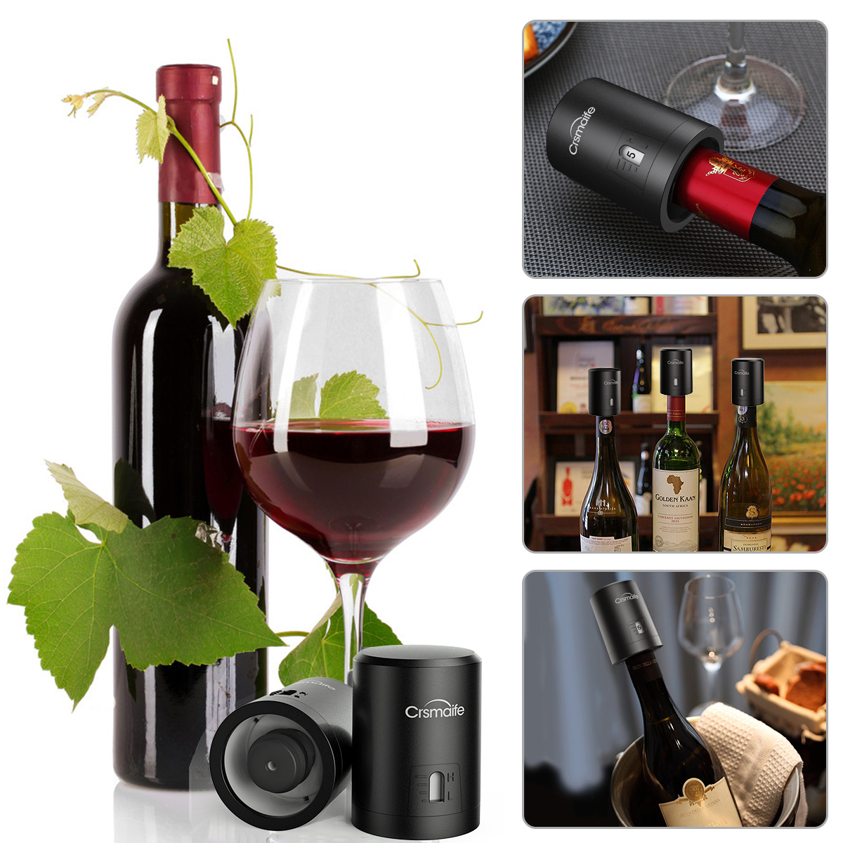 1Pc ABS Vacuum Red Wine Bottle Cap Stopper Vacuum Sealer Fresh Wine Keeper Tools