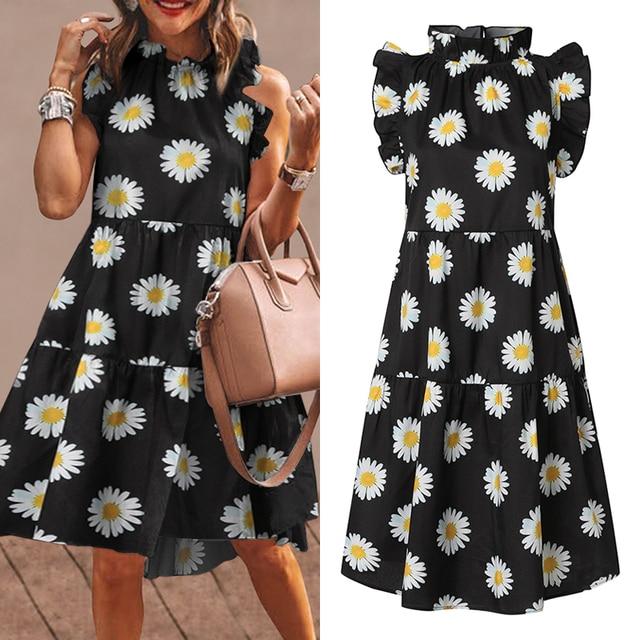 short ruffleneck flirty dress 5
