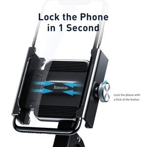 Image 4 - Baseus Motorcycle Bicycle Phone Holder For iPhone Samsung Bike Mobile Phone Stand Handlebar Clip Moto Mount Bracket Bike Holder