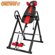 OneTwoFit-máquina de soporte de mano plegable, camilla de espalda al revés para culturismo, equipo de Fitness para gimnasio en casa