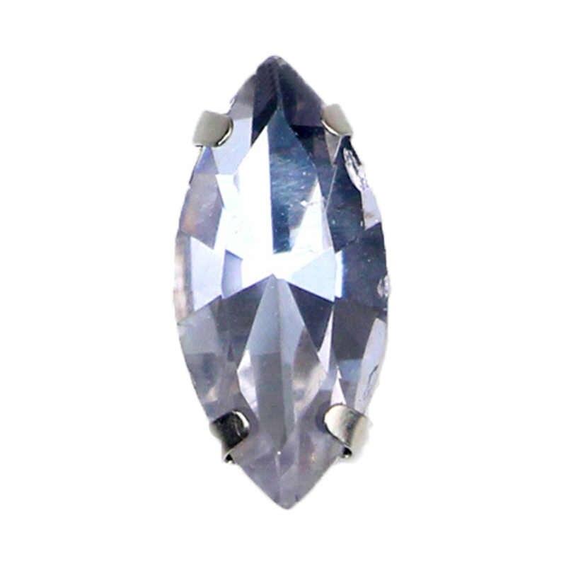 Кристалл фиолетовый лошадиный глаз в форме AAA + кристаллическое стекло серебряная основа пришивная плоская задняя сторона Свободные Стразы для DIY одежды аксессуары