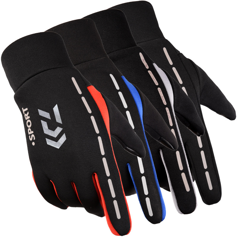 <font><b>Daiwa</b></font> Winter Warm <font><b>Fishing</b></font> <font><b>Gloves</b></font> Cotton Full Fingers Winter Keep Warm Anti-slip <font><b>Fishing</b></font> <font><b>Glove</b></font> Outdoor Riding Hiking Sports image