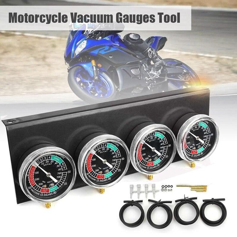 AL22-МОТОЦИКЛ КАРБЮРАТОР синхронизатор вакуумный манометр инструмент Carb вакуумный манометр балансир для Yamaha/Honda/Suzuki черный