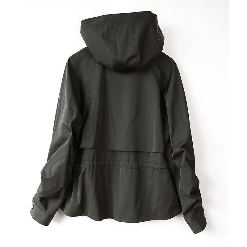 Весенняя и Осенняя Новая модная короткая куртка женская Свободная ветровка с рукавом «летучая мышь» на завязках женская одежда K297