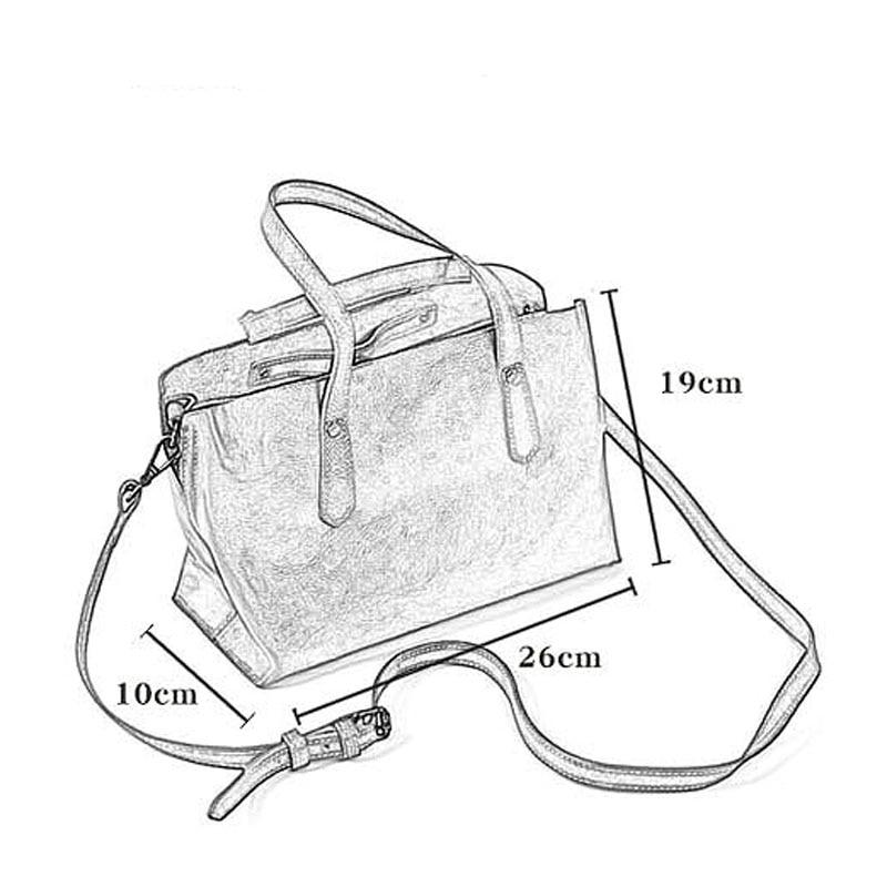 Vegetable tanned leather handmade bag multi-layer soft leather handbag multi-compartment commuter female bag shoulder bag