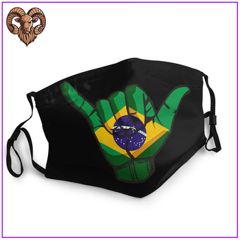 2020 Women Men facemasks maskas Shaka sign Great Brazil flag cotton facemask for virus protection reusable washable hot sale