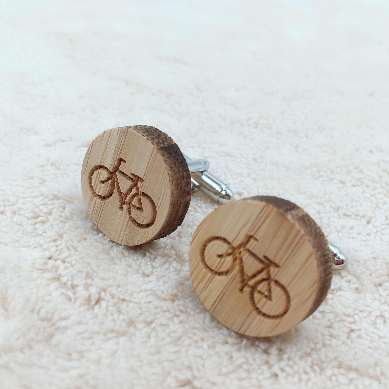 Bicycle Wood Cufflinks