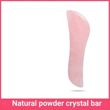 Natural pink crystal jade scrapping board lifting wrinkle to promote the absorption of double head j
