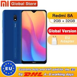 Globale Versione Xiaomi Redmi 8A 2GB 32GB Del Telefono Mobile Snapdragon 439 Octa Core 6.22 5000 mAh 12MP fotocamera Dello Smartphone