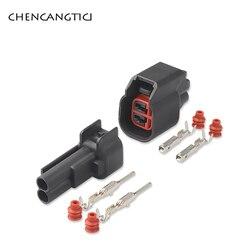 2 комплекта 2 Pin Way EV6 к EV1 Авто Водонепроницаемый инжектор топлива сопло разъем метанол Мужской Женский Разъем для Ford Chevrolet