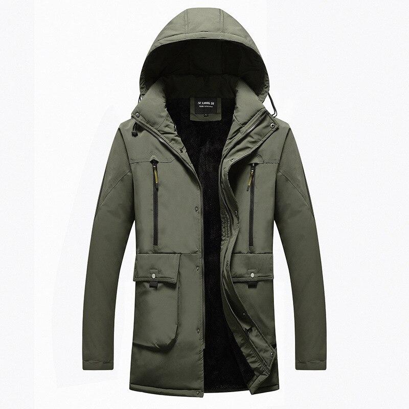 Mode luxe marque hommes coton hommes plus velours épais chaud veste hiver décontracté à capuche fermeture éclair décoratif hommes coton vêtements