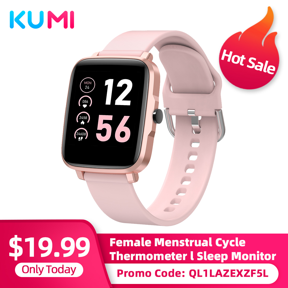 Умные часы KUMI KU1 S для мужчин и женщин, сенсорный фитнес-трекер, измеритель артериального давления, пульса, BT5.0, Смарт-часы для Android и IOS
