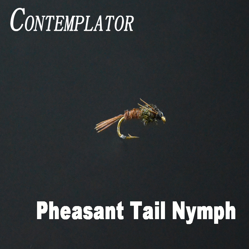 CONTEMPLATOR 5pcs 14# Pheasant Tail Nymph fly tying flies brown/rainbow trout excellent mimic baetis or caddis nymphs baits