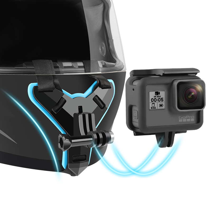Full Face Helmet Chin Mount Holder for GoPro Hero 8 6 5 SJCAM Motorcycle Helmet Chin Stand Camera Accessories for Go Pro Hero 8(China)