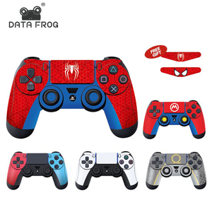 DATA FROG Full Cover Skin Stickers For PS4 Controller Vinyl Decal Protector Skin For PS5 Design For PS4 Slim/Pro Accessories